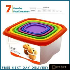 More details for 7x food containers meal prep microwave safe plastic reusable lunch boxes