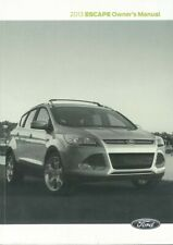 2013 Ford Escape Owners Manual User Guide