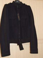 Next Ladies Brocade & Ribbon Trim Coat Jacket Black Size 14 Tall Bnwt
