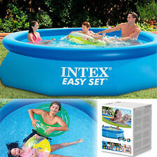"""New listing Inflatable Swimming Pool 10'x30"""" Family Intex Yard Backyard Round Above Ground"""