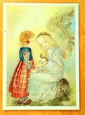 Sulamith Wulfing 1936 DIE RAUPE The Caterpillar ANGEL Artist Signed Postcard