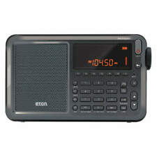 "Mini Shortwave Radio,Digital,4-1/8"" H NELITEEXECUTIVE"