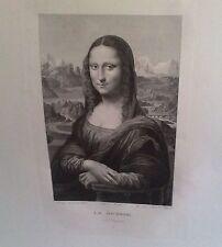 LA JOCONDE  Peint par Leonard de Vinci dessine par Bouillon Grave par Massard