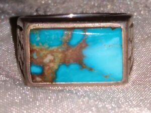 Vintage Turquoise Ring (Fox Mine, Tonopah Nevada)