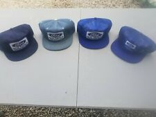 Vintage K Brand Ford Akron Tractor & Equipment Hats Patch Denim Snapback