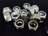 M10 M12 M14 M16 M20 M24 Nyloc Nut, A2 Stainless Steel
