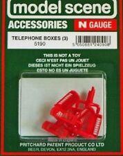 Modelscene 'N' Accessories - Telephone Boxes  5190 Plastic Figures Railway Model