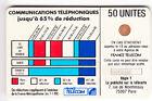 VARIETE TELECARTE CORDON BLANC .. 50U Ko58 6 N° IMP.895688 C.46€