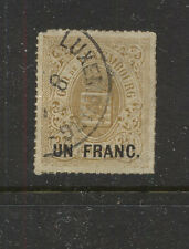 Luxembourg 26 used overprint stamp catalog $100.00 Kel0420