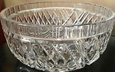 Vint Led Crystal Large Gorgeous Fruit  Serving Bowl European German*