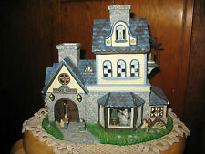 "Party Lite Old World Village #1 Candle Shoppe. 11""L x 9.5""H x 6""W. Slight Use."