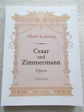 Albert Lortzing Czaar Zimmermann Vocal Piano Score Unused