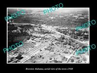 OLD LARGE HISTORIC PHOTO OF BREWTON ALABAMA AERIAL VIEW OF THE TOWN c1940