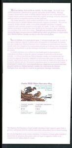 CANADA 1990 DUCK STAMP ARTIST SIGNED IN FOLDER AS ISSUED WOOD DUCK MICHAEL DUMAS