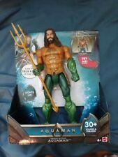 "Aquaman 2018 Trident Strike Aquaman 12"" action Figure 30+ Phrases and sound"