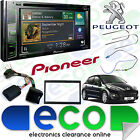 "Peugeot 207 06 > Pioneer 6.2"" CD DVD MP3 USB Aux Bluetooth DAB Double Din Stereo"