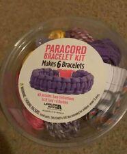 Paracord Bracelet Kit Easy Makes 6 Bracelets by Leisure Arts Multiple Colors New