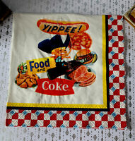 1 Vintage Coca Cola Yippee Food & Coke Paper Napkin Collectible Cowboy Coke NOS