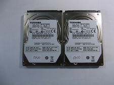 "Lot of 2 toshiba 320gb 5400rpm 2.5"" Hard disk drive SATA"