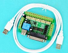 5 Axis CNC Breakout Board For Stepper Driver Controller mach3 +USB cable