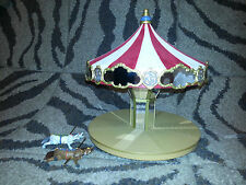 HALLMARK Keepsake 2004 CAROUSEL RIDE Tabletop ORNAMENT DISPLAY STAND W/ 2 HORSES