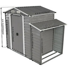 8'x5' Large Outdoor Backyard Storage Shed Utility Tool Lawn Building w/Door Gray