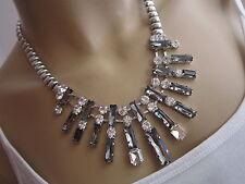 STRASS Collier Damen Hals Kette kurz Modekette Modeschmuck Silber Statement BR26