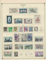france 1959 stamps page mounted mint & used ref 17496