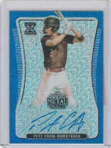 Pete Crow-Armstrong,2020,Leaf,Metal(Autrographed BlueMojoXRCRefractor,Card#DFine