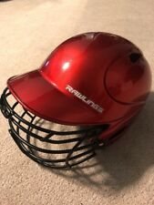 Rawlings VLP1 Youth One Size Helmet 6 1/2 - 7 1/2 With Mask Red EUC