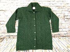 Kilronan Irish Knit Green Cardigan Long XL