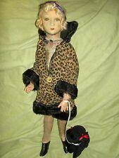 "Extremely RARE 22"" lb'd. Elegant Dean's Rag England, boudoir doll, swivel joints"