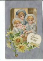 CH-030 Valentine Greeting Children, , John A Winsch Divided Back Postcard