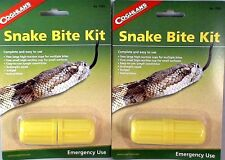 2 PK SNAKE BITE KIT CAMPING EMERGENCY SURVIVAL FIRST AID VENOM STING EXTRACTOR!