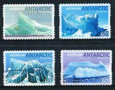 Australian Antarctic Territory 2011 Icebergs, set of 4 peel & stick stamps, used