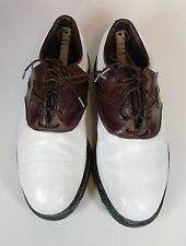 Footjoy golf shoes Sz 8.5 M extra comfort brown & white #57817