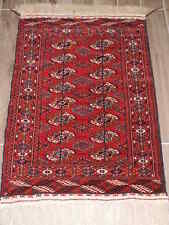 3x4ft. Handmade Tekke Turkoman Bokharra Wool Rug
