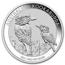 2017 Australia 1 kilo Silver Kookaburra BU - SKU #102675