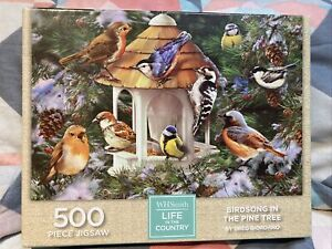 WH SMITH LIFE IN THE COUNTRY BIRDSONG IN THE PINE TREE 1000 PIECE JIGSAW COMP.