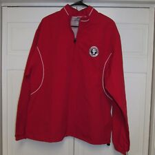 Russell Dri Power Mens Red 1/4 Zip Up Sports Jacket White Pine School Golf M NWT