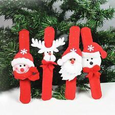 Muñeco Nieve de Navidad Bofetada Pulsera Fiesta Favor Traje Regalos Decoraciones