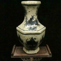 Chinese old porcelain Hand-painted Blue and White Porcelain Hexagonal  vases
