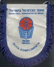 ISRAEL BASKETBALL FEDERATION SMALL PENNANT #2 14x15cm
