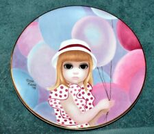 """1976 First Limited Edition Margaret Keane """"the Balloon Girl"""" Collectors Plate"""