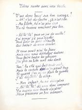 Pierre LOUŸS /  Poème autographe érotique  /  « Titine rentre avec une tâche»