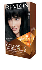2 X Revlon Colorsilk Permanent Hair Color 10 Black 100
