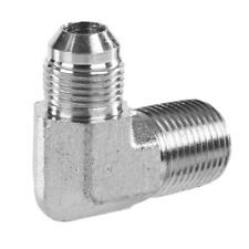 "2501-06-06  3/8"" Male JIC X 3/8"" Male NPT 90 DEGREE ELBOW ADAPTER FITTING"