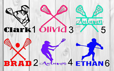 Lacrosse personalized Name Decal Color 3inchx3inch