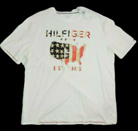 3XL Tommy Hilfiger Mens T-Shirt Tee Short-Sleeve Embroidery American Flag NWT