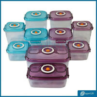 Food Storage Container Set Vacuum Lids Freezer Microwave BPA Vacuum Lunge Box UK